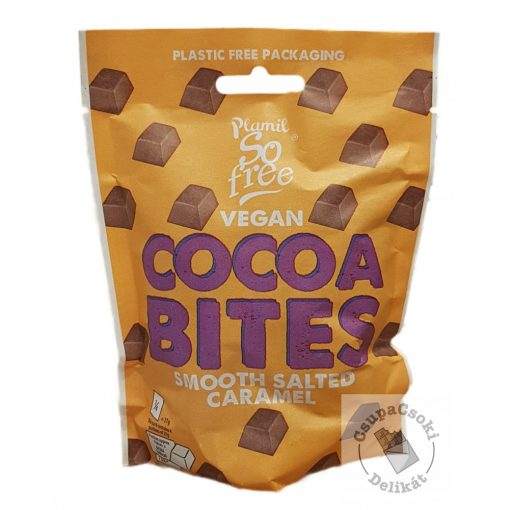 So Free Cocoa Bites Smooth Salted Caramel Tejmentes csokoládé falatok sós karamellával 108g