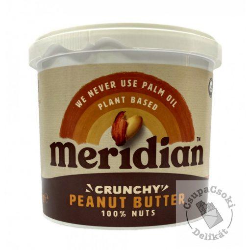 Meridian Crunchy mogyoróvaj, hozzáadott cukor nélkül 1kg