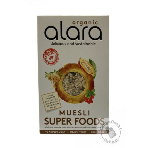 Alara Superfood Müzli hozzáadott cukor nélkül, bio 500g