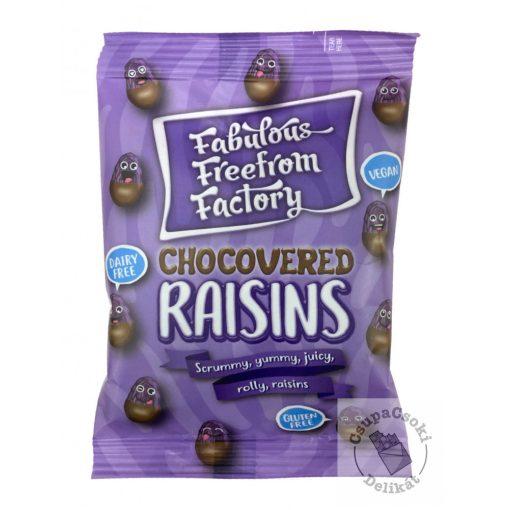 Fabulous Freefrom Factory  Mazsolaszemek tejmentes csokoládéba mártva 75g
