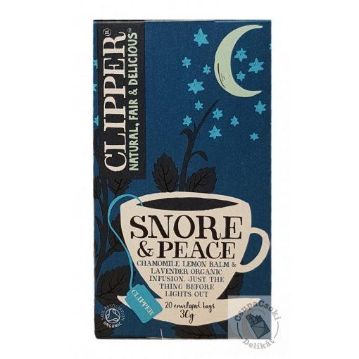 Clipper Snore&Peace Relaxáló bio teakeverék 20 filter 30g