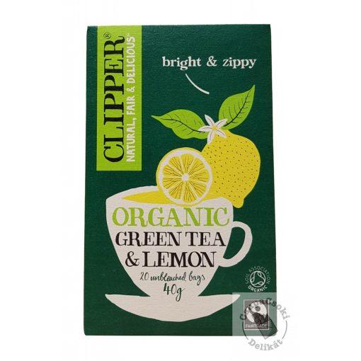 Clipper Green&Lemon Zöld tea citrommal 20 filter 40g