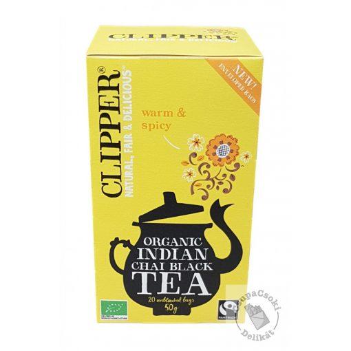 Clipper Bio Indian Chai Fűszeres fekete tea 20 filter, 50g