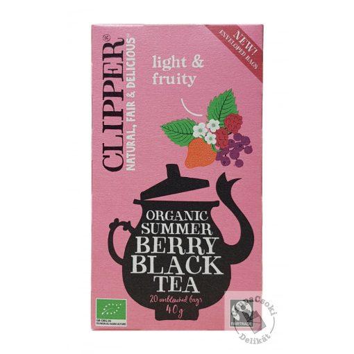 Clipper Summer Berry Bio Gyümölcsös fekete tea 20 filter, 40g