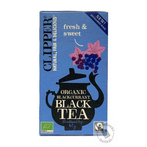 Clipper Blackcurrant Bio feketeribizlis fekete tea, 20 filter, 40g
