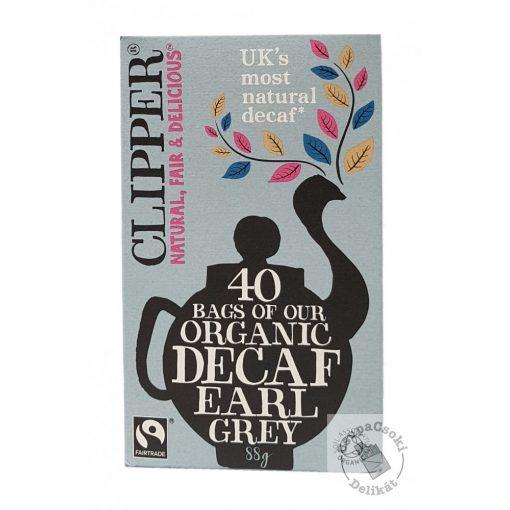 Clipper Bio Koffeinmentes Earl Grey fekete tea 40 filter, 88g