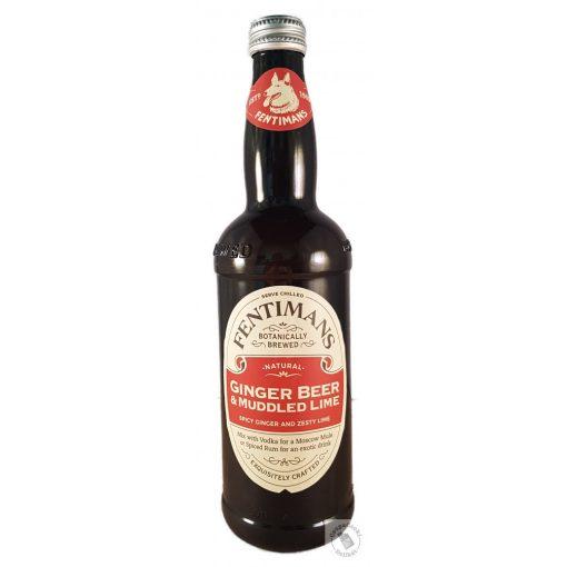 Fentimans Ginger Beer&Muddled Lime Gyömbér sör lime-al szénsavas alkoholmentes üdítő 500ml