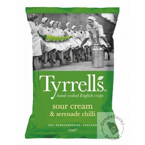Tyrrell's Sour Cream&Serenade Chilli Burgonyachips tejfölös-chilis 150g