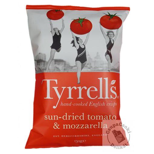 Tyrrell's Sun-Dried Tomato&Mozzarella Burgonyachips szárított paradicsommal és mozzarellával 150g