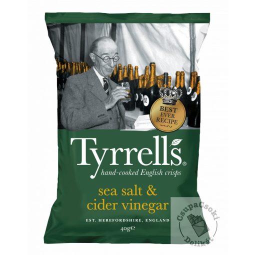 Tyrrell's Burgonyachips  tengeri sóval és almaecettel 40g