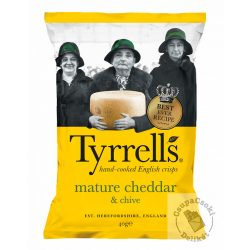 Tyrrell's Burgonyachips chedar sajttal és snidlinggel 40g