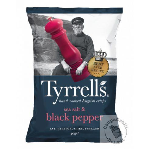 Tyrrell's Burgonyachips tengeri sóval és tört fekete borssal 40g