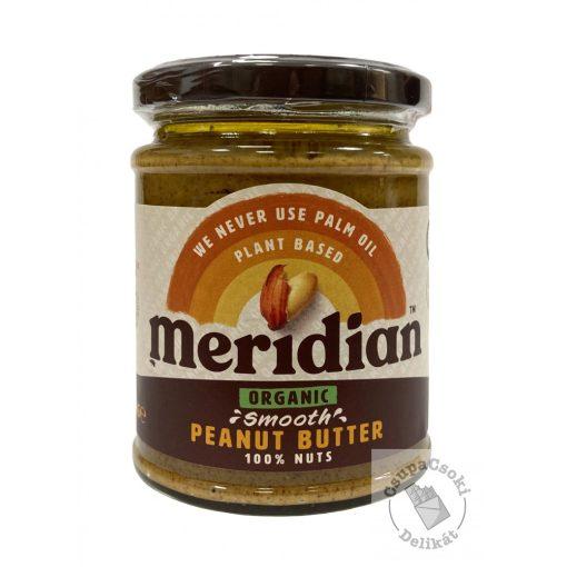 Meridian Organic Smooth Bio mogyoróvaj hozzáadott cukor nélkül 280g