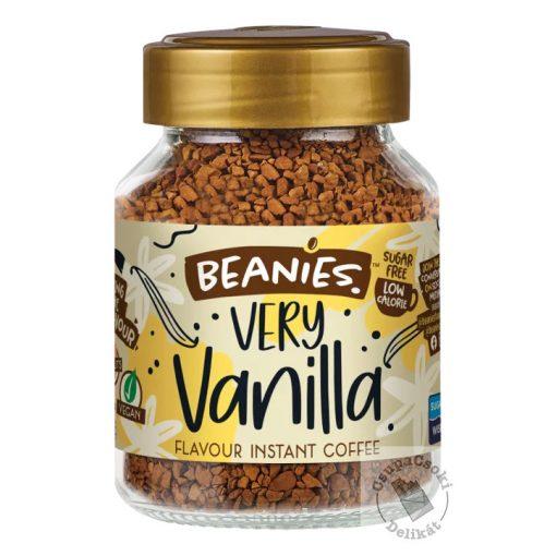 Beanies Very Vanilla Vaníliás ízesítésű  azonnal oldódó kávé 50g