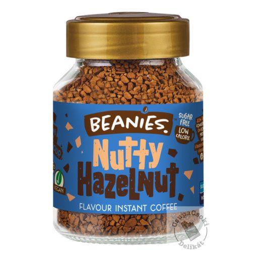 Beanies Nutty Hazelnut Mogyorós ízesítésű  azonnal oldódó kávé 50g