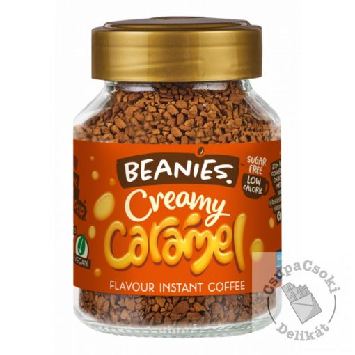 Beanies Creamy Caramel Karamell ízesítésű  azonnal oldódó kávé 50g