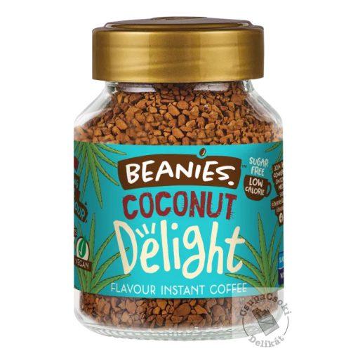Beanies Coconut Delight Kókuszos ízesítésű  azonnal oldódó kávé 50g