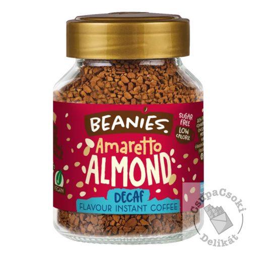 Beanies Amaretto Almond Mandulás ízesítésű koffeinmentes azonnal oldódó kávé 50g