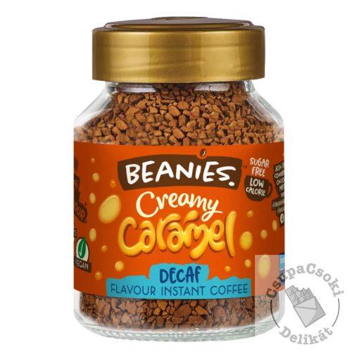 Beanies Creamy Caramel Karamell ízesítésű, koffeinmentes azonnal oldódó kávé 50g