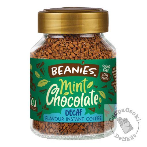 Beanies Mint Chocolate Mentás-csoki ízesítésű koffeinmentes azonnal oldódó kávé 50g