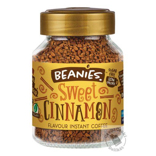 Beanies Sweet Cinnamon Fahéj ízesítésű azonnal oldódó kávé 50g