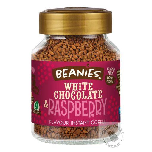 Beanies White Chocolate&Raspberry Fehércsokoládé-málna ízesítésű azonnal oldódó kávé 50g