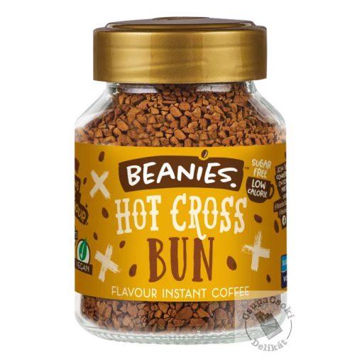 Beanies Hot Cross Bun Mazsolás süti ízesített instant kávé 50g