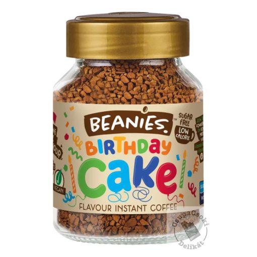 Beanies Birthday Cake Eper-tejszín ízesítésű azonnal oldódó kávé 50g
