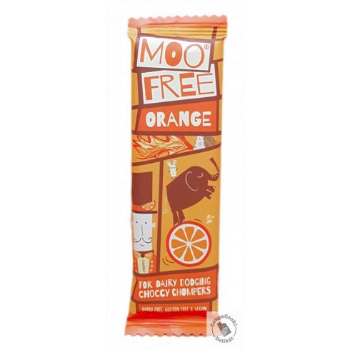 Moo Free Cheeky Orange Narancsos tejmentes csokoládészelet 23g