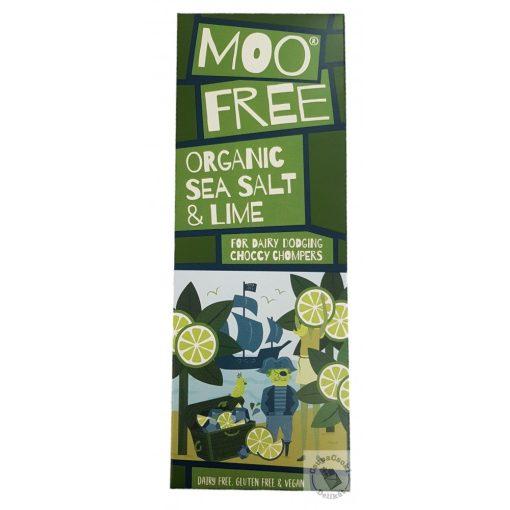 Moo Free Marvellously Moreish See Salt&Lime Tejmentes tejcsokoládé tengeri sóval és lime-al 80g