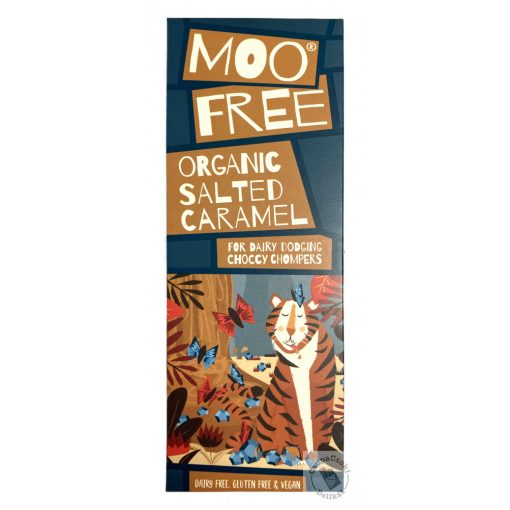 Moo Free Organic Salted Caramel Tejmentes sós-karamellás csokoládé 80g
