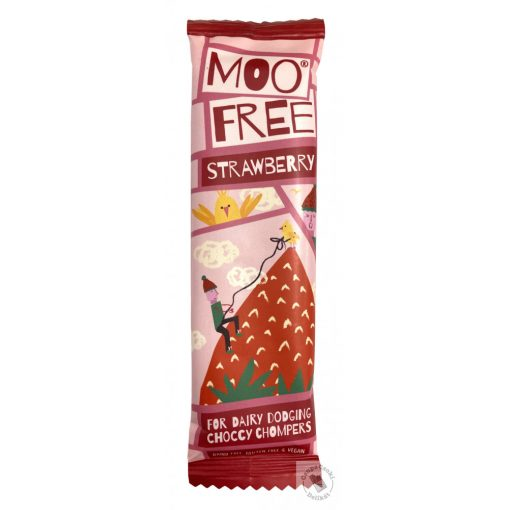 Moo Free Strawberry Epres tejmentes csokoládé 20g