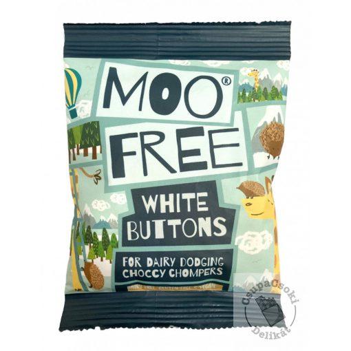 Moo Free White Buttons Tejmentes fehércsokoládé drazsé 25g