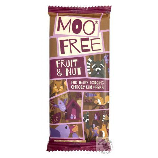 Moo Free Fruit Nut Mazsolás mogyorós tejmentes csokoládé 80g