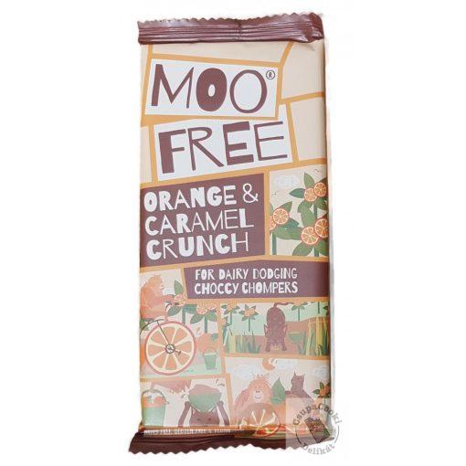 Moo Free Orange Caramel Crunch Narancsos karamellás tejcsokoládé 80g