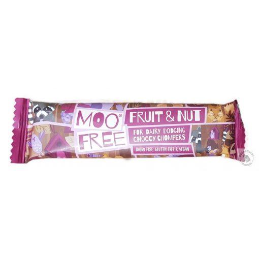 Moo Free Fruit Nut Mazsolás mogyorós tejmentes csokoládé 35g