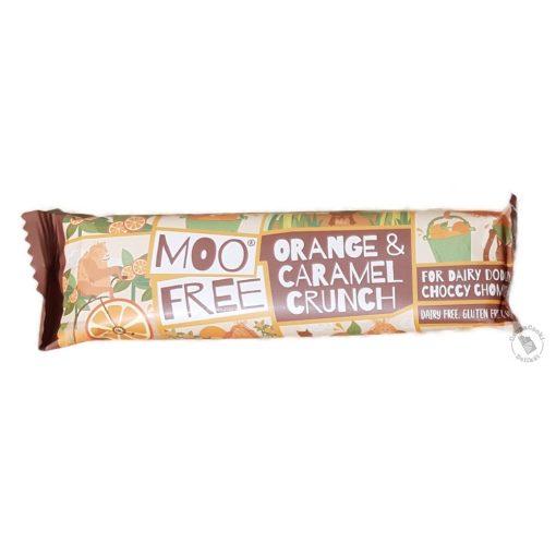 Moo Free Orange Caramel Crunch Narancsos karamellás tejcsokoládé 35g