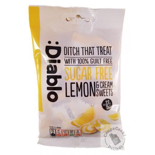 Diablo Cukorka citromos-tejszínes ízben, cukormentes 75g