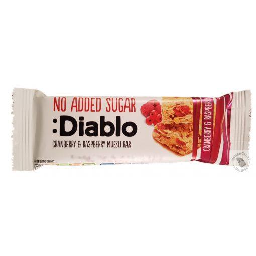 Diablo Müzliszelet áfonyával és málnával, hozzáadott cukor nélkül 30g