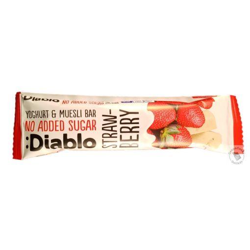 Diablo Müzliszelet eperrel, joghurtos bevonattal, hozzáadott cukor nélkül 30g
