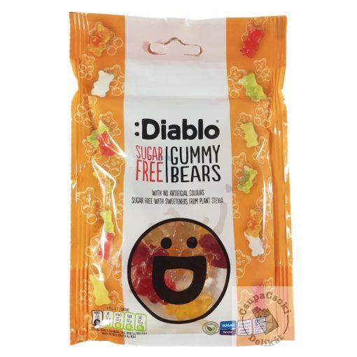 Diablo Gummy Bears Gumicukor maci gyümölcs ízesítésű, cukormentes 75g