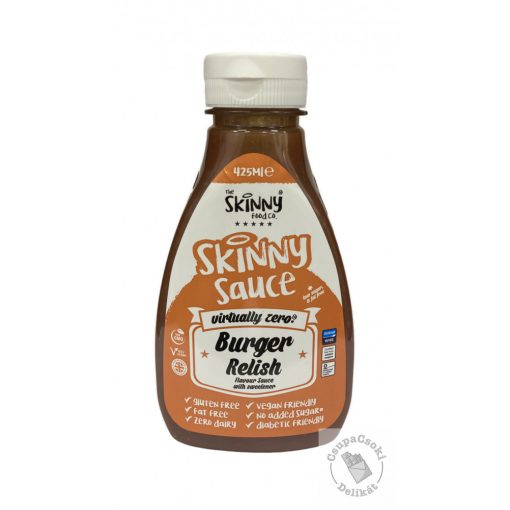 Skinny Burger Relish Hamburger szósz, cukormentes 425ml