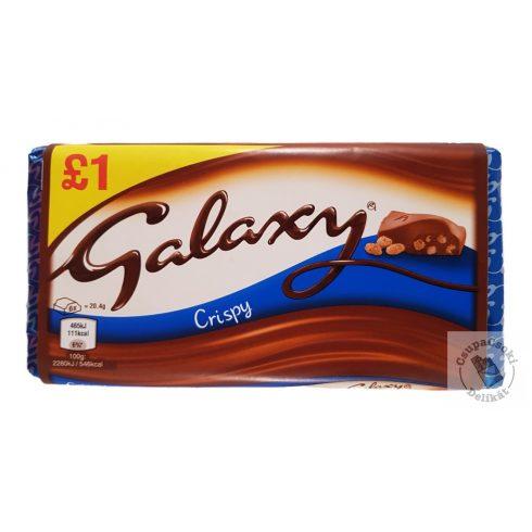 Galaxy Crispy Tejcsokoládé ropogós gabonával 102g