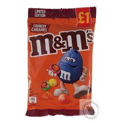 M&M's Crunchy Caramel Tejcsokoládé drazsé karamell töltelékkel 80g