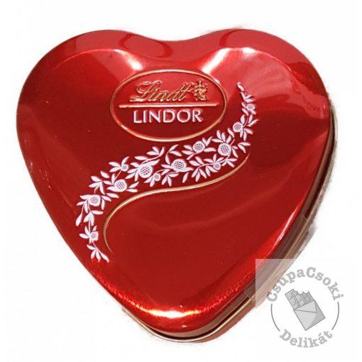 Lindt Lindor Tejcsokoládé golyók fém szívdobozban 50g
