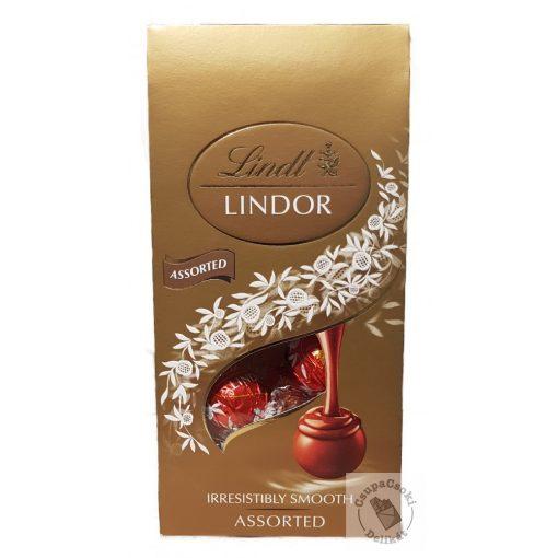 Lindt Lindor Assorted Csokoládégolyó válogatás díszdobozban 100g