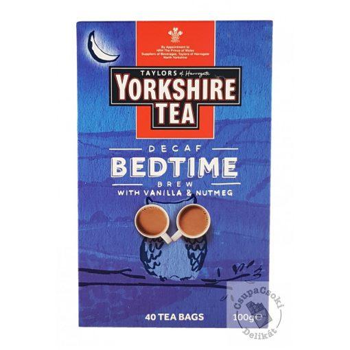 Yorkshire Bedtime Koffeinmentes fekete tea vaníliával és szerecsendióval 40 filter 100g