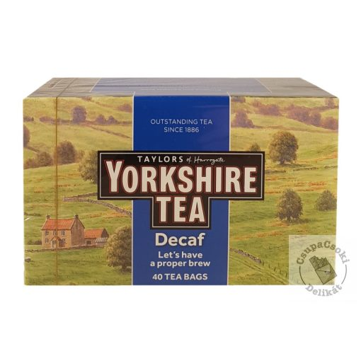 Yorkshire Koffeinmentes fekete tea 40 filter, 125g