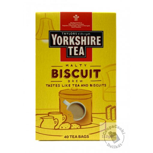 Yorkshire Malty Biscuit Fekete tea keksz ízesítéssel 40 filter 112g