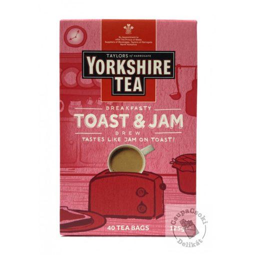Yorkshire Breakfasty Toast&Jam Fekete tea lekváros pirítós ízesítéssel, 40 filter, 125g